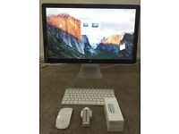 """Mint Condition 27"""" Apple Thunderbolt Display - Original Packaging -With Apple Keyboard & Magic Mouse"""