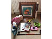 Car boot - household, Vtech, toiletries, Winnie the Pooh, golf club, Ikea, wallpaper.....