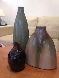 Three Ceramic Vases.