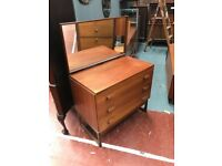Very rare G Plan Quadrille Chest Of drawers In Teak. Comes complete with original mirror RETRO L@@k