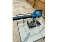 Leaf blower with battery and charger