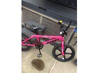 "Girls pink big momma bike BMX 20"""
