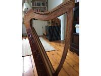 A gorgeous Celtic harp