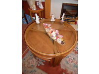 Glass top occasional table with three small tables/Nest of tables