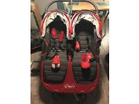 Baby Jogger City Mini with one carrycot and adapter clips