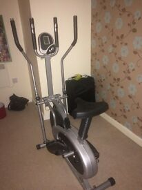 2 in 1 manual exercise bike/cross trainer fully working