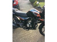 keeway rks sport 125cc, 2 keys .service history, new sprockets plus chain