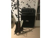 Epiphone T-Bird Bass Guitar with Peavey Stack System - Concert quality rig.