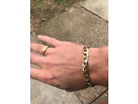 9ct gold men's bracelet 30grams