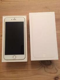 iPhone 6 Plus . White . Unlocked . Great condition. With box , key and charger