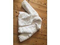 White Fluffy Coat for Little Girl - M&S 12-18 Months