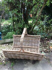 Trug basket for wood or magazines