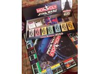 Collectable Monopoly Star Wars Classic Trilogy Edition 1977-1997 Pewter Figures
