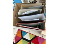 Job lot of used lever arch files 10+ box files