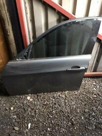 Bmw e90 3 series passenger side door in grey complete