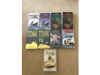 VHS video tapes x 9 Titanic documentaries x 7 + films x 2 ex con