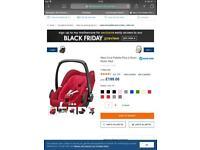 Maxi Cosi Pebble Plus Baby Carrier - Virtually New