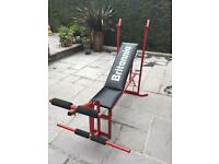Britannia weights bench and leg curl