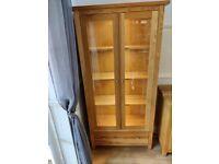 Handmade 2 Door Oak Display Cabinet with LED Lighting