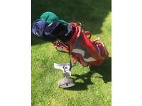Golf Clubs, full set, bag, and trolley