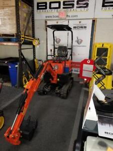 Boss Mini X Excavators - Financing Available - Only $22,498!