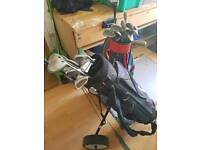 Golf clubs bags and trolley