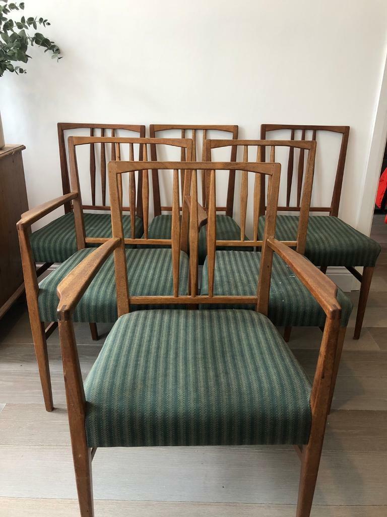 Mid Century Dining Chairs Vintage 1950 S Teak Gordon Russell Set