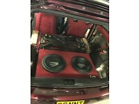 Rainbow germanium audio with bit one (speakers, subs, tweeters) vw polo 6n2