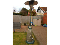GARDEN PATIO HEATER WITH COVER & GAS BOTTLE