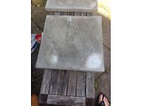 Large quantity of new slabs, 450x450x32mm, grey