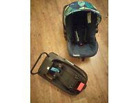 Cosatto nightbird baby car seat and isofix base
