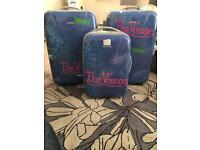 Matching set of hard shell suitcases