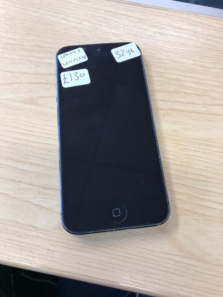 iPhone 5 32gb black unlockedin Ward End, West MidlandsGumtree - iPhone 5 32gb black unlocked to all networks. In good condition. Comes with charger only. £130
