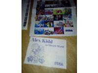 Sega master system 11 instruction manuals