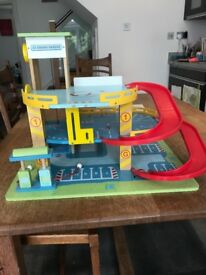 Wooden garage by Le Toy Van - bargain price!