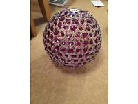 Next purple curtains & lampshade disco ball style