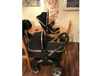 i candy peach black magic buggy with carrycot and stroller and extras