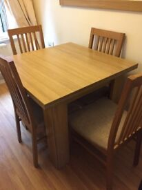 Dining Table with 4 chairs (SOLD PLS NO MORE OFFERS)