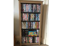 DVD storage unit with 5 shelves