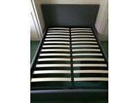 double bed - Storage bed (gas-lift) 2 months old