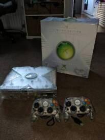 Original Microsoft Xbox Crystal Edition