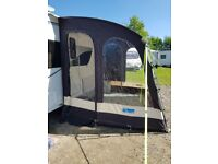 Kampa rally pro 260 porch awning. Very good condition. Includes breathable flooring.