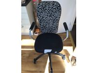 Comfy Black and White Office Chair