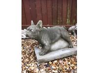 Stone garden home French Bulldog excellent