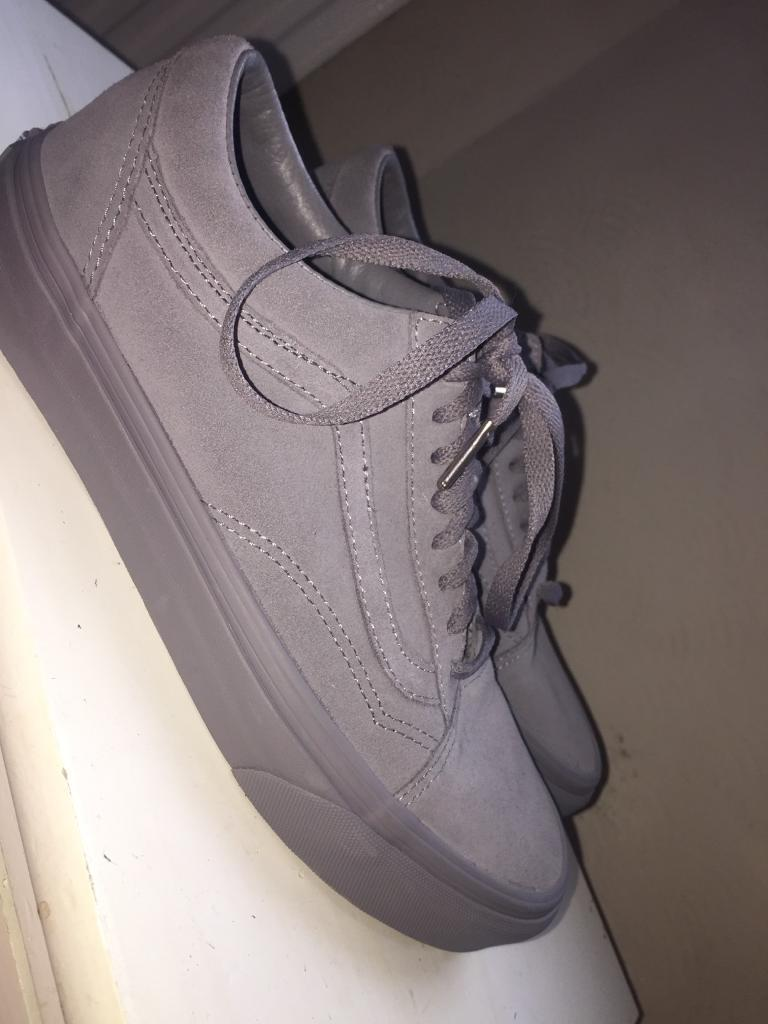 Brand new grey Suede vans