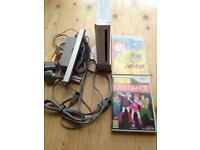 Nintendo wii console and 2 games