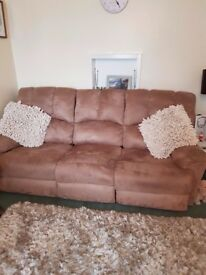 3 seater elrctric reclining sofa