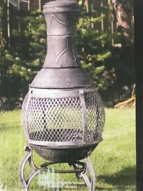 Cast iron patio chiminea Brandnew sealed in the box £40