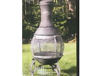 Cast iron patio chiminea Brandnew sealed in the box £40