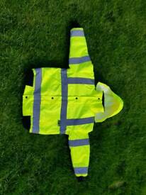 Hi viz yellow reflective work jacket kids